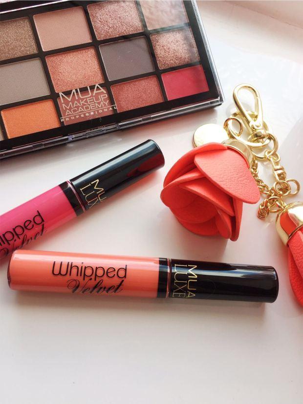 Palette (Mua Make up Academy) Liquid Lipstick (Mua Luxe) Charm (H&M)